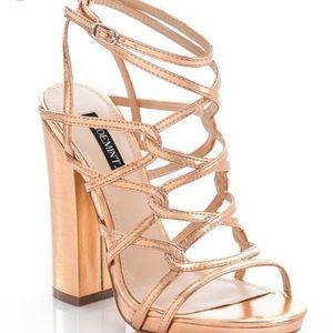Shoemint rose gold heeled sandals